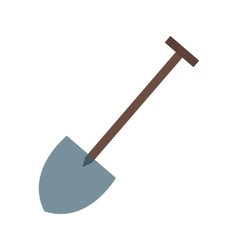 Hand shovel vector