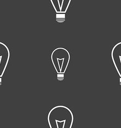 Light lamp sign icon idea symbol lightis on vector