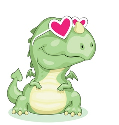 dragon in love vector image