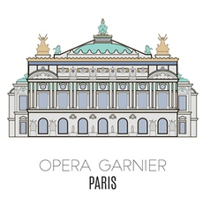 Opera garnier paris france vector