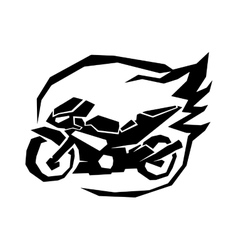 Black sport bike silhouette transport power vector