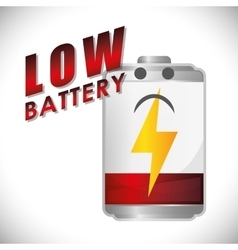 Battery design energy and power concept editable vector
