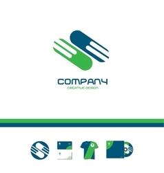 Abstract green blue company sign logo icon vector