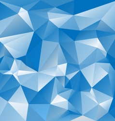 Blue sky polygon triangular pattern background vector