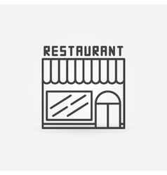 Restaurant linear building icon vector