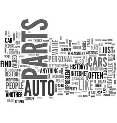 Auto parts of the future text word cloud concept vector