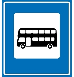 black London bus icon on white background vector image vector image