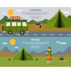 Camping banner set vector