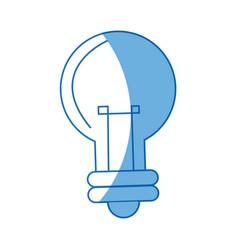 cartoon bulb light creativity illumination vector image vector image