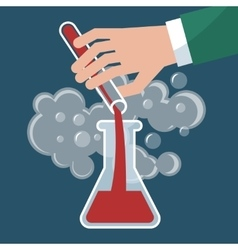 Chemistry chemical experiment vector image vector image
