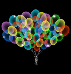 colorful abstract balloons vector image vector image