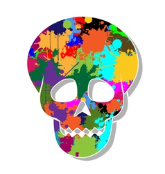 Colorful skulls vector image vector image