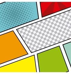 comic pop art background vector image