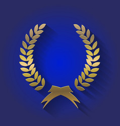 gold award wreaths laurel victory and vector image vector image