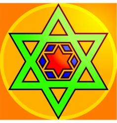 hindu symbol vector image vector image