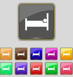 Hotel Icon sign Set with eleven colored buttons vector image vector image
