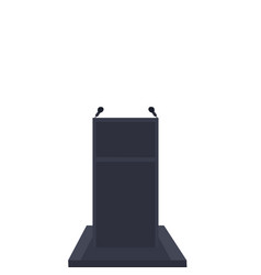isolate podium or pulpit on white background vector image vector image