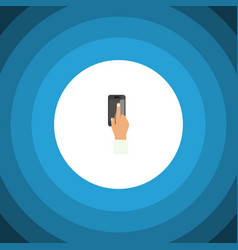 isolated interactive display flat icon vector image vector image