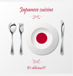 Japanese cuisine cutlery vector