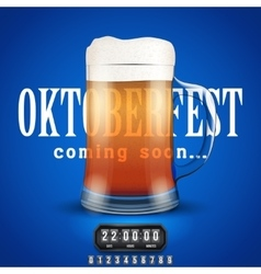 Octoberfest coming soon poster vector
