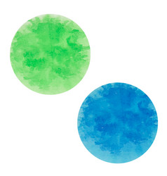 Round ink spots blue and green vector