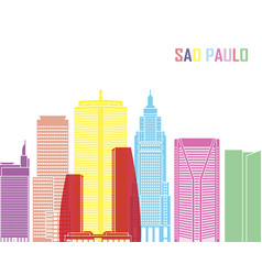 Sao paulo v2 skyline pop vector