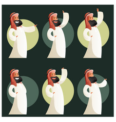 Set of muslim cartoon characters3 vector