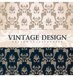 vintage wallpaper Gift wrap Floral vector image vector image