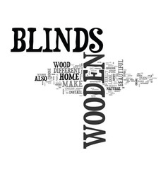 Why choose wooden blinds text word cloud concept vector