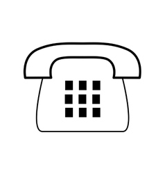 Phone communication machine icon graphic vector