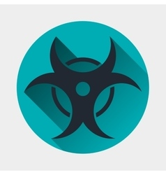 Virus icon epidemic symbol vector