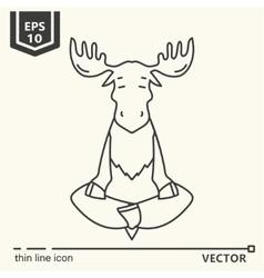 Meditative animals series - moose vector