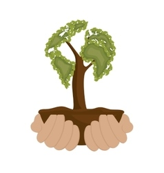 Ecology plant symbol icon vector