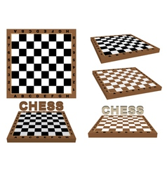 Set of chessboards vector