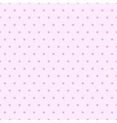Seamless hearts polka dot pattern vector
