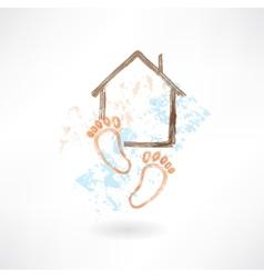 housewarming grunge icon vector image