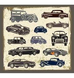 Vintage style retro cars vector