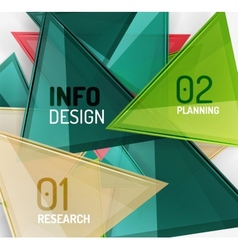 Business modern colorful geometric infographics vector image