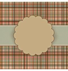 tartan vintage card vector image