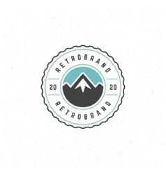Mountain design element vector