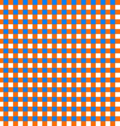 Table cloth seamless pattern orange and blue vector