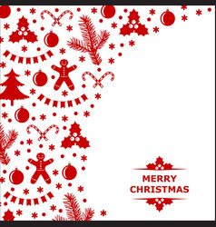 Xmas decor card vector