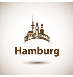 Hamburg skyline abstract vector
