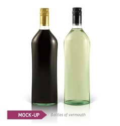 Mockup martini bottle vector