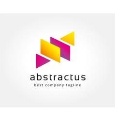 Abstract colored box logo icon concept Logotype vector image vector image
