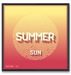 Abstract summer sun vector