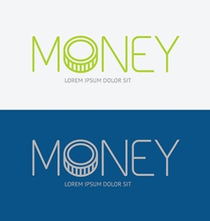 alphabet design money business concept vector image vector image