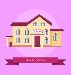 Back to school isolated on purple vector