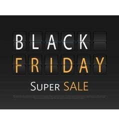 Black friday sale analog flip clock design vector image vector image