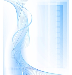 Blue fantasy background vector image vector image
